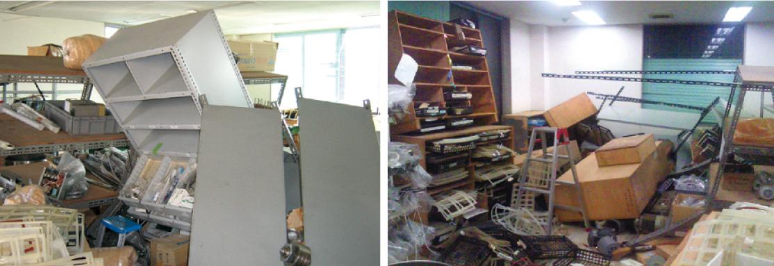 東日本大震災で被害を受けた当社仙台支店